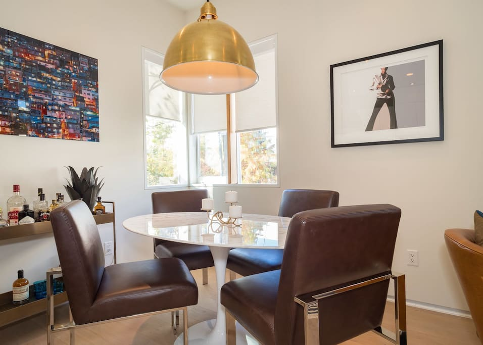 Dining table with seating for 4