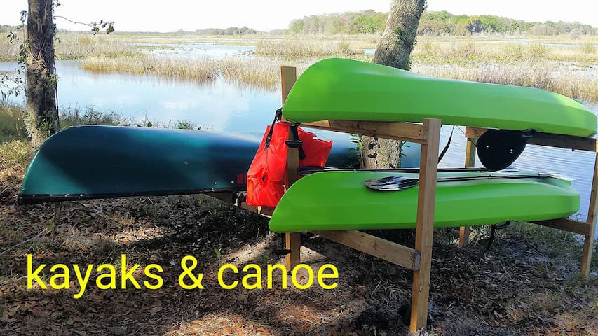 Two free kayaks &  a canoe for our lake!