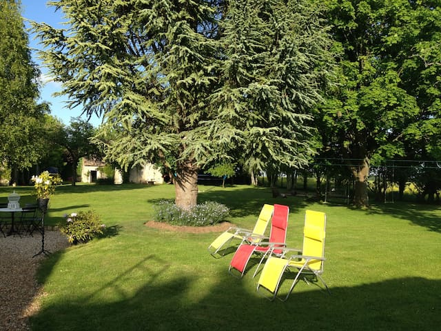 Chambre dans maison de charme 30mn de Giverny - Caillouet-Orgeville - ゲストハウス