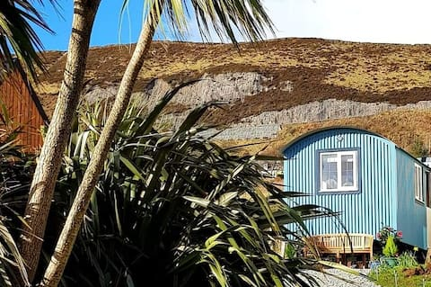 Uig Bay Luxury Bespoke self catering shepherd hut.