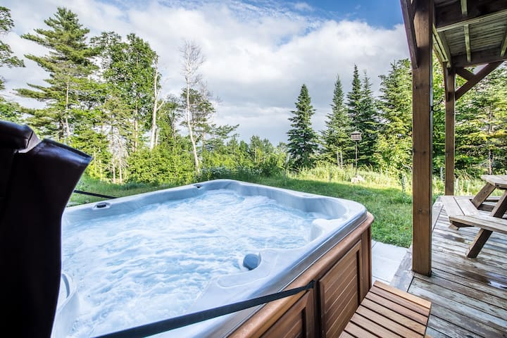 Condo Ski Nature au jardin avec spa