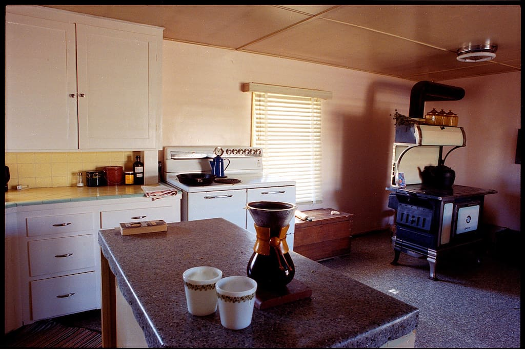 Here's the huge kitchen, we've got not one but two stoves for real dedicated food nerds