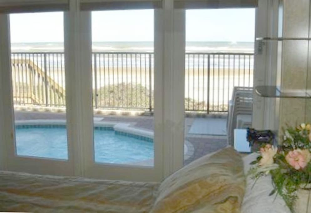 Bedroom #2 With Pool & Ocean View