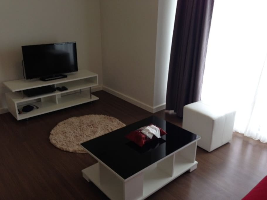 Large living area with TV, DVD and wireless Internet