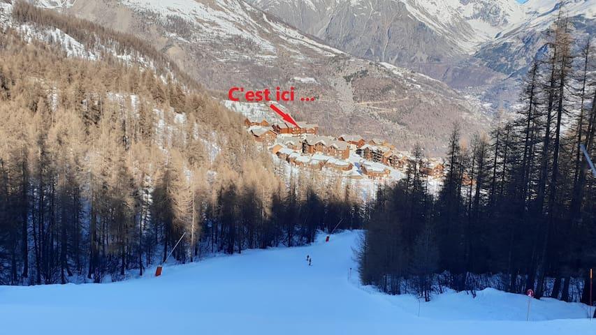 Spacieux T3 rénové, ensoleillé et skis aux pieds