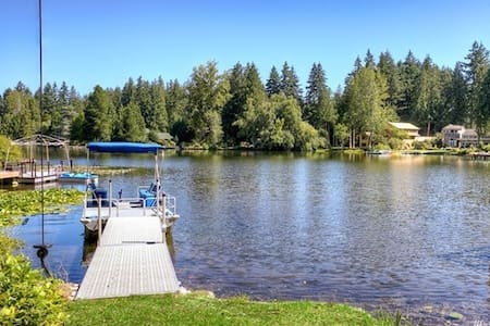 Pine Lake Waterfront House with private dock&boat - Sammamish - Villa