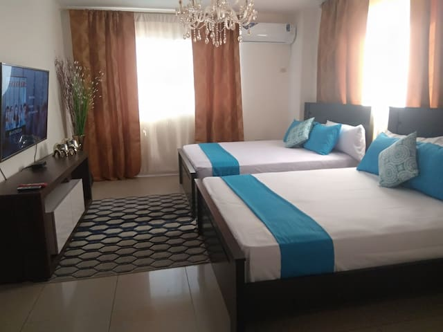 Double room in front of the airport