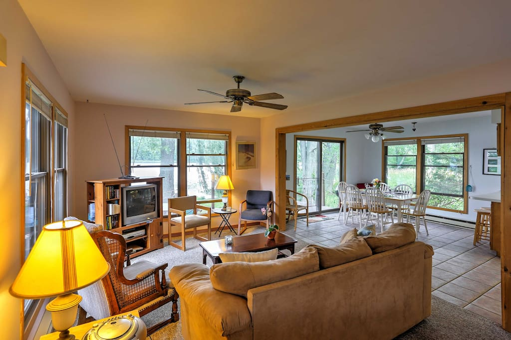 Inside, the cozy cottage offers everything you'll need for a comfortable stay.