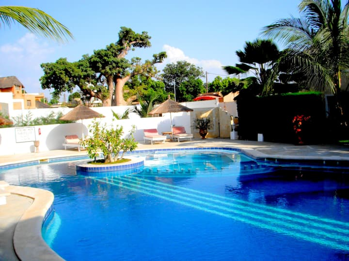 Villa with 3 bedrooms in Saly, with shared pool, enclosed garden and WiFi - 300 m from the beach