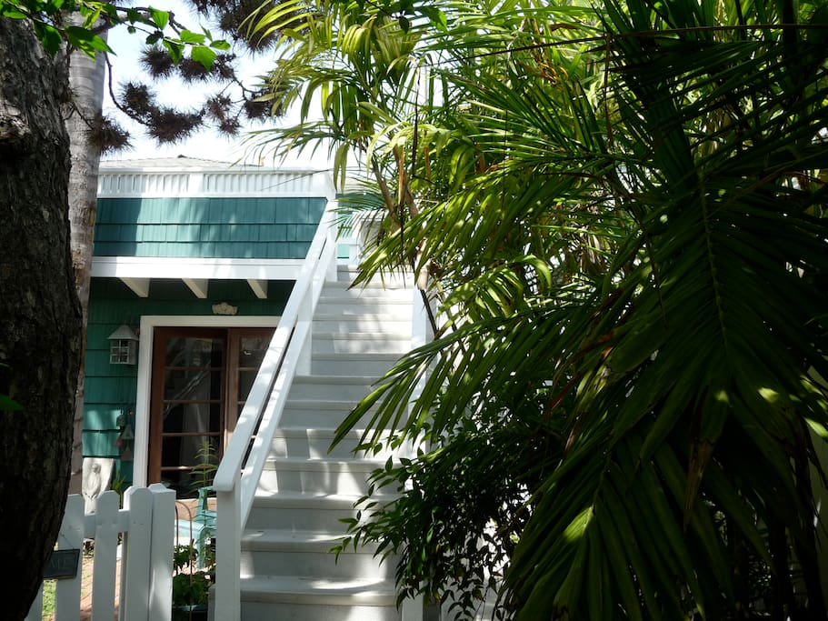 The beach cottage is a duplex - owner lives downstairs, your home away from home is upstairs.