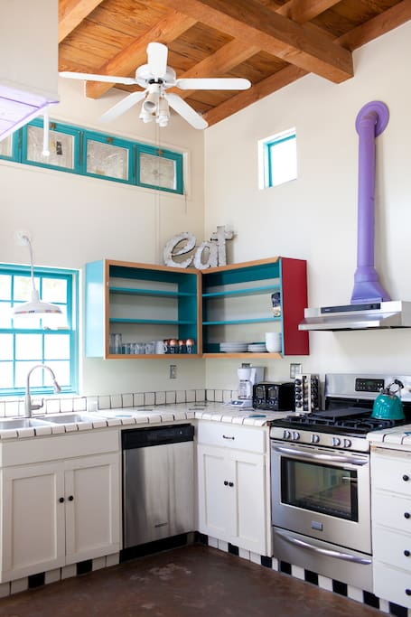 The colorful kitchen!