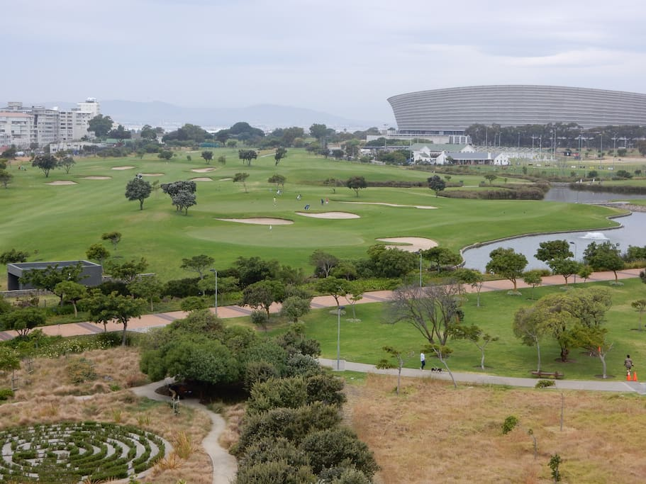 View East from the living room over Green Point Park and Golf Course