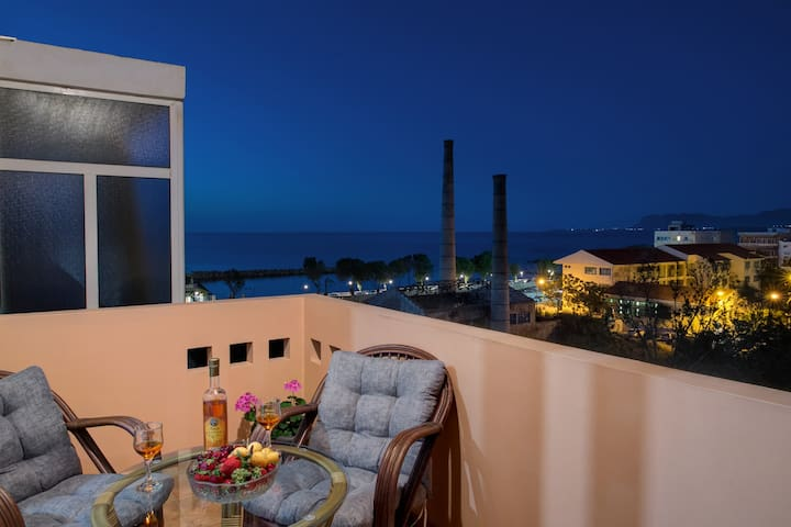 Fougaro Apartment with Side Sea View Chania