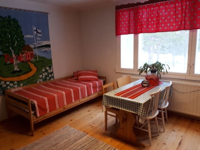 Single room with a kitchen