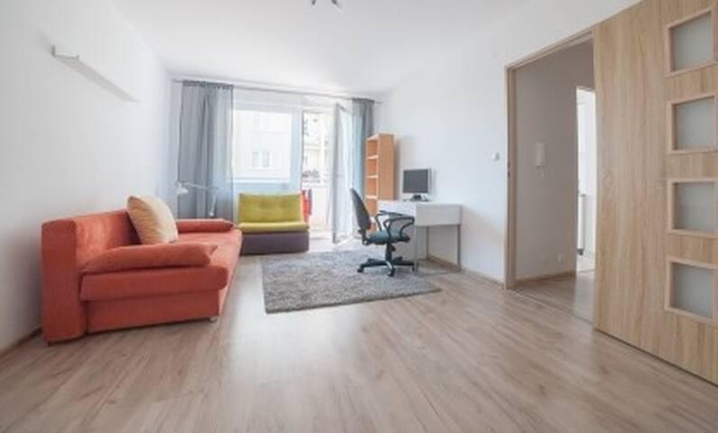 Sypialnia z balkonem / A bedroom with a balc