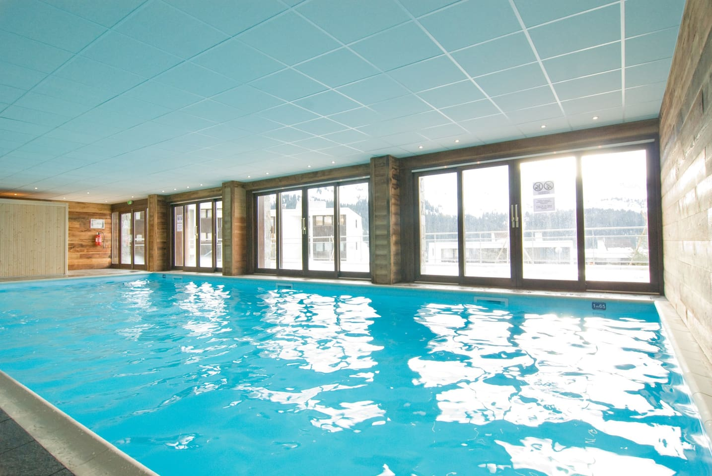 Go for a swim in the indoor pool.