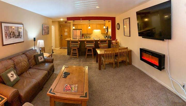 Breck Ski In, Walk Everywhere. Mountain View 1BR