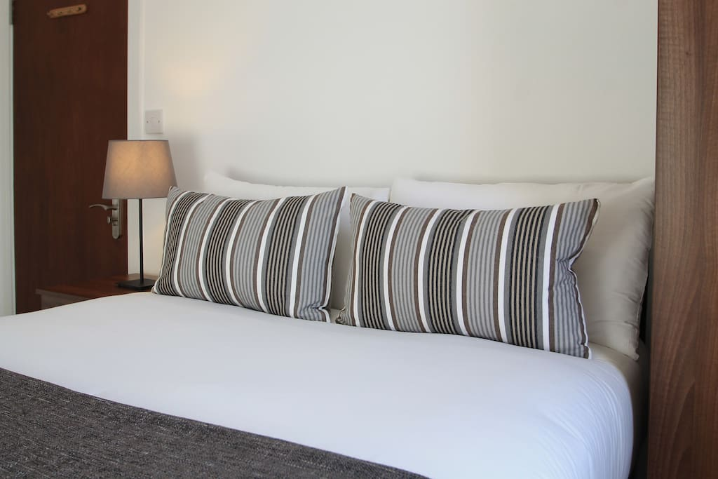 Comfortable double bed with fresh linen
