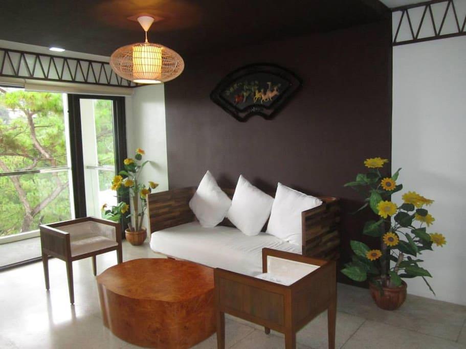 Common living room area