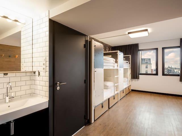 Modern Parisian dorm with a private bathroom