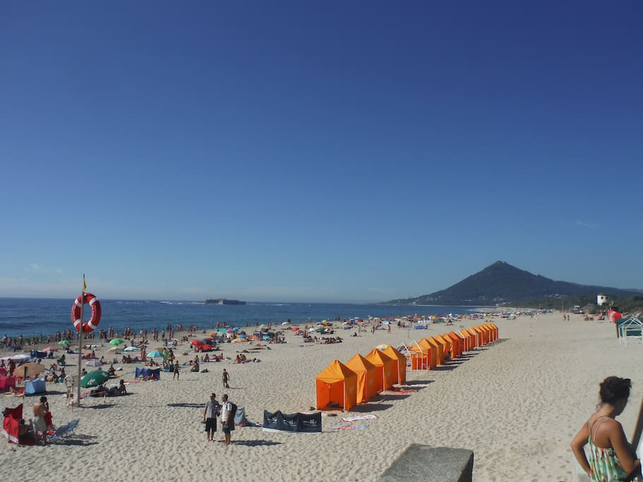Moledo beach (in August)
