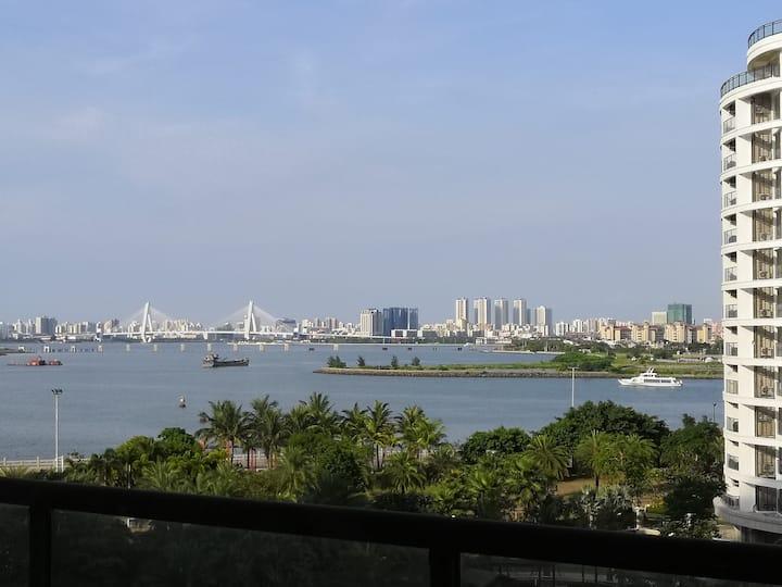 【恒大海口湾】现代海景一居/有泳池/近万绿园/聆海阁