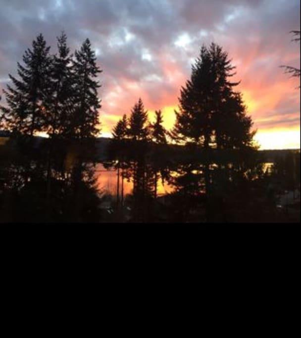 upper level lake sunset
