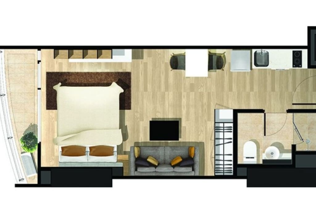 Layout for 40 sqm