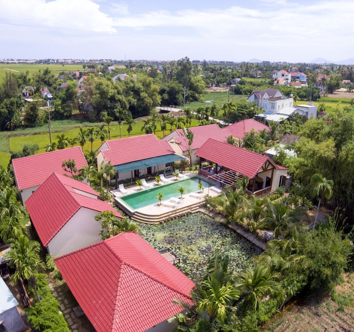 AERIAL VIEW OF VILLAS