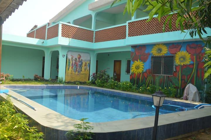 Villa Sonnenblume: Chambre Baobab avec piscine