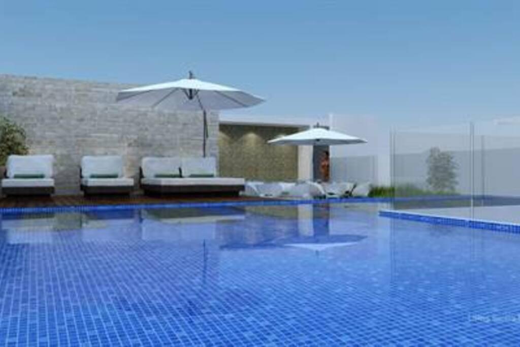 Roof pool con increíble vista al mar