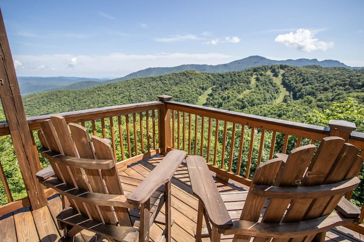 3BR, Big Views of Grandfather, Wall of Windows, Privacy, Game Table, Near Slopes