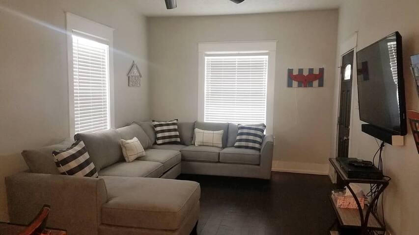 Living room with a sleeper sofa