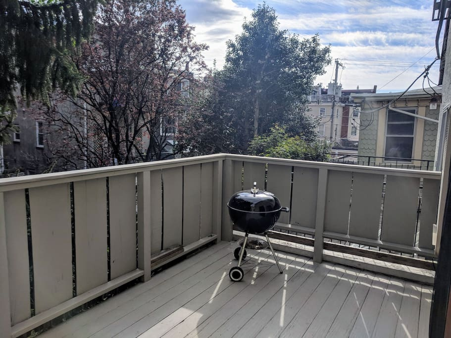 Deck - charcoal grill