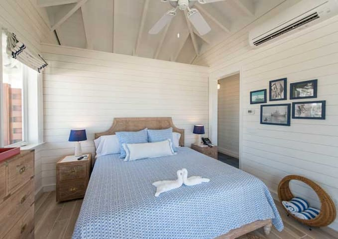 Each Cabana features a king-sized bed. Maid Service is offered daily.