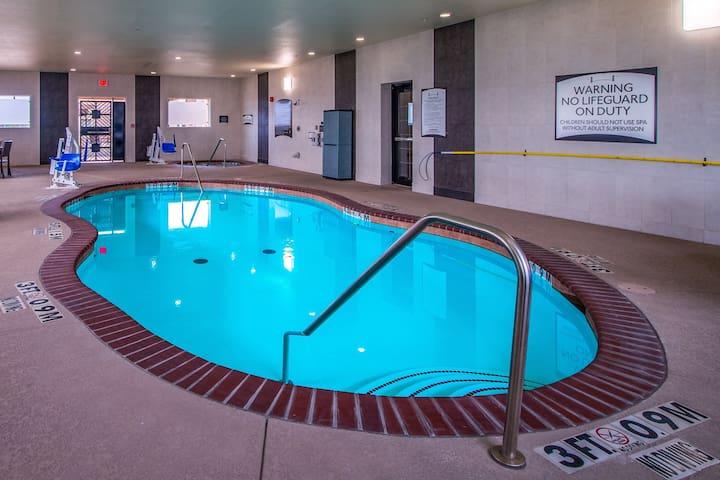 Indoor Pool & Hot Tub. Free Breakfast. King Studio.