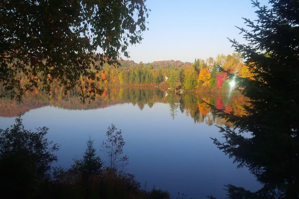 Bord du lac vue arrière