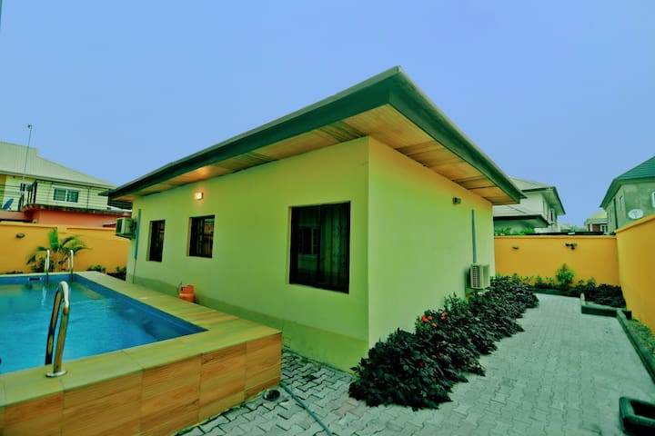 One bedroom mini flat with swimming pool