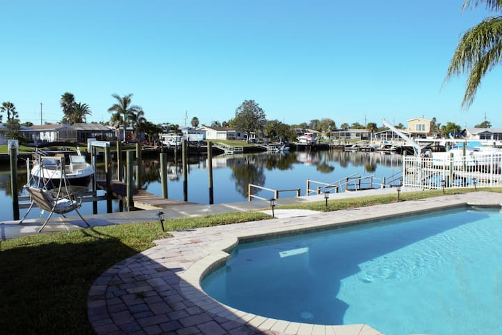 Gulf Harbors Getaway Home with Pool
