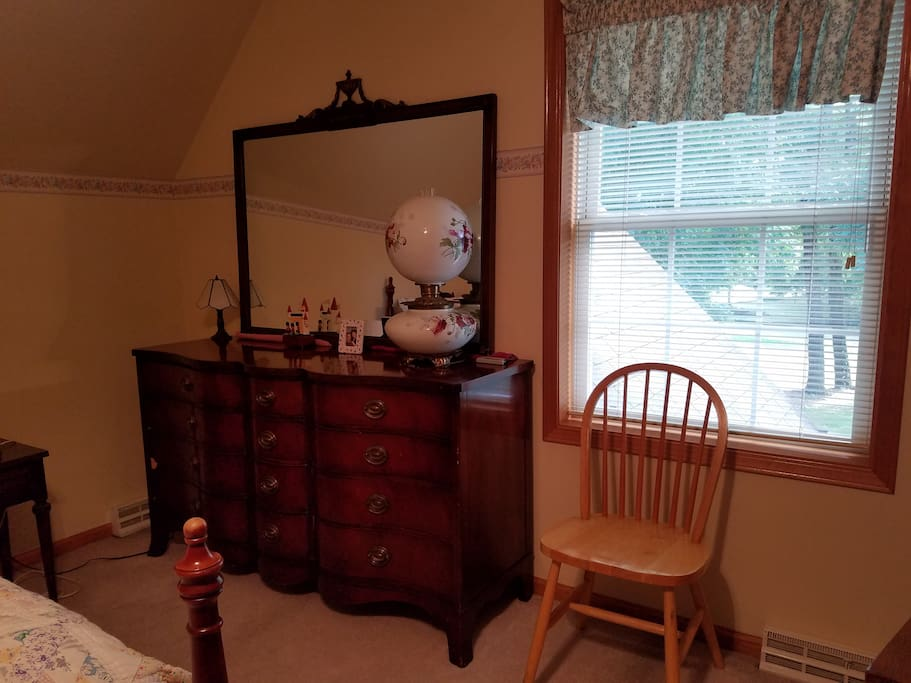 Handsome Dresser for your duds and window view