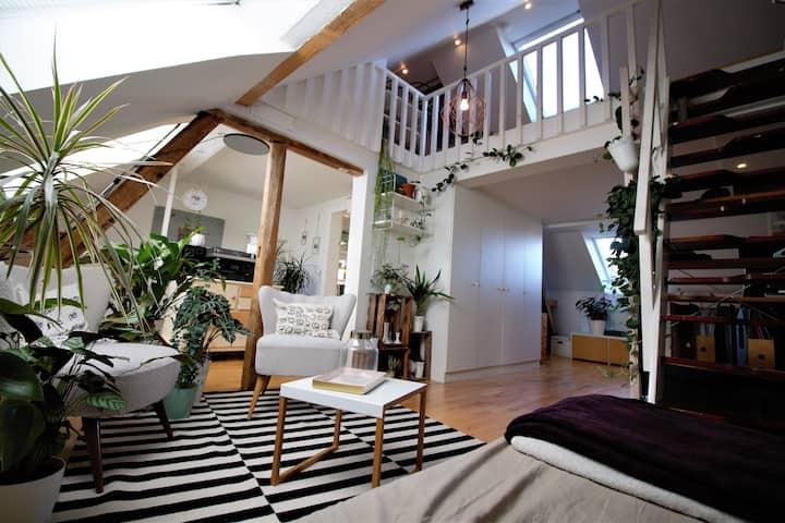 Eigene Etage in Einfamilienhaus mit Garten