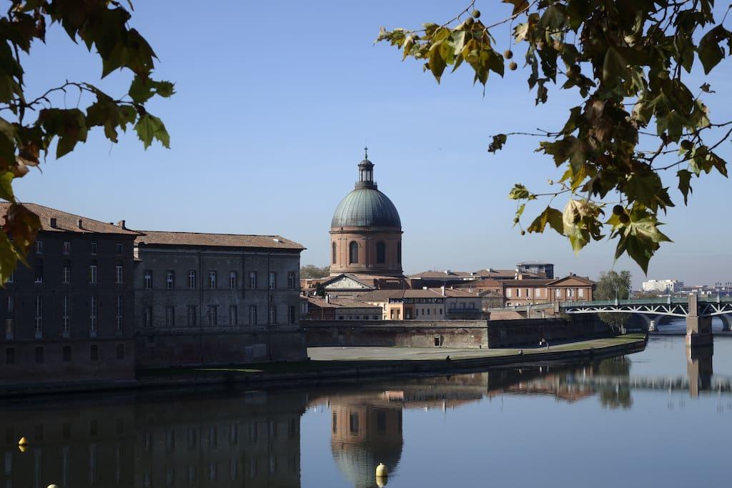 Vue sur la Garonne depuis la chambre
