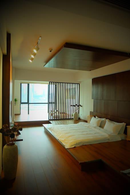 日式江景大床房