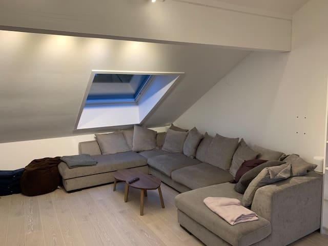 Stor og god sofa i stuen