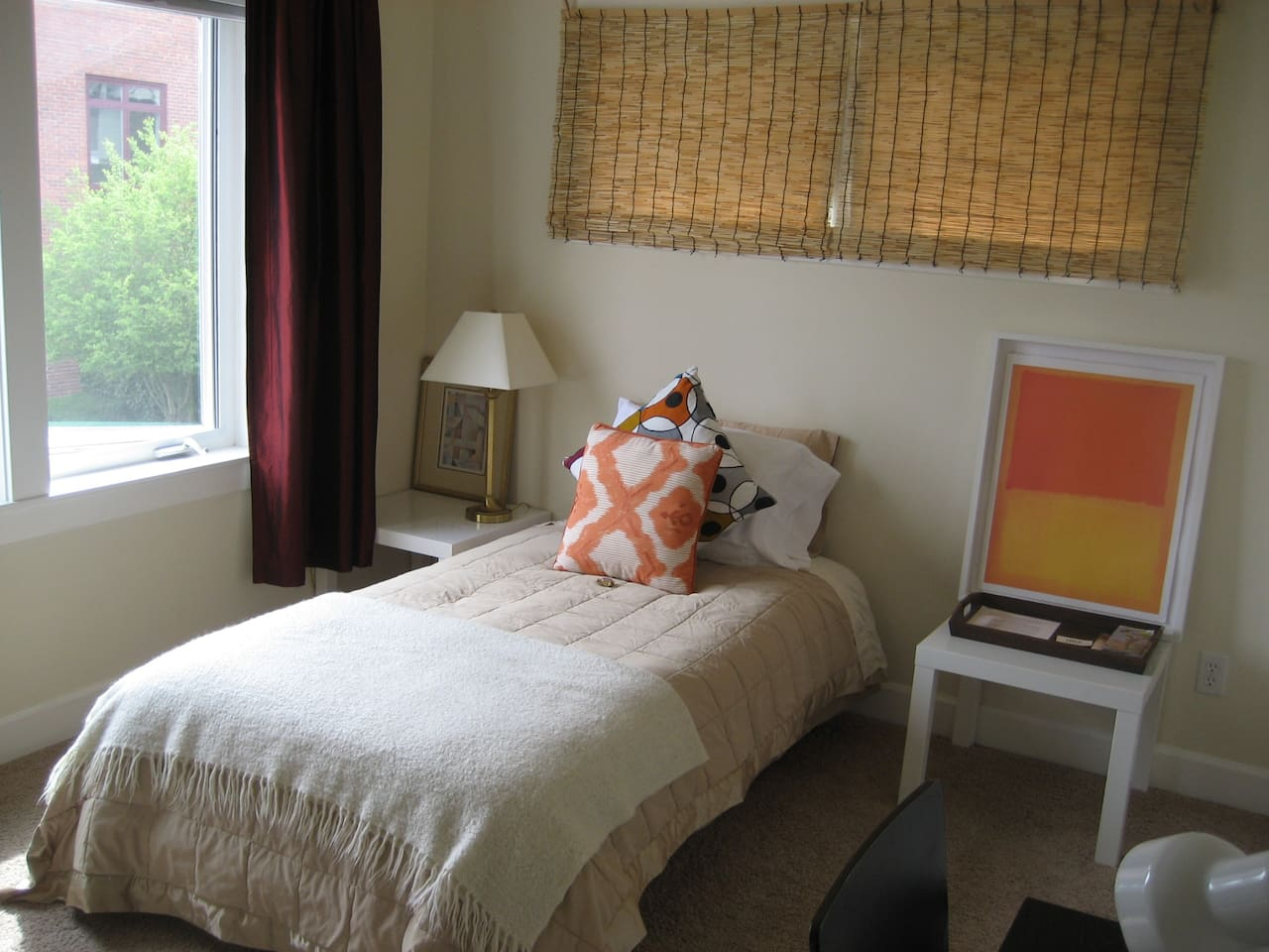 The room! Great light, desk and chair plus large closet and chest of drawers!