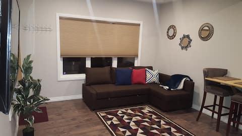 Fully furnished 2-bed Walkout Basement Calgary SE