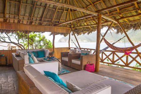 Tayrona Ecohab Bungalow on the Ocean - Domek parterowy