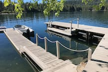 Main dock slip accommodates 24' boat