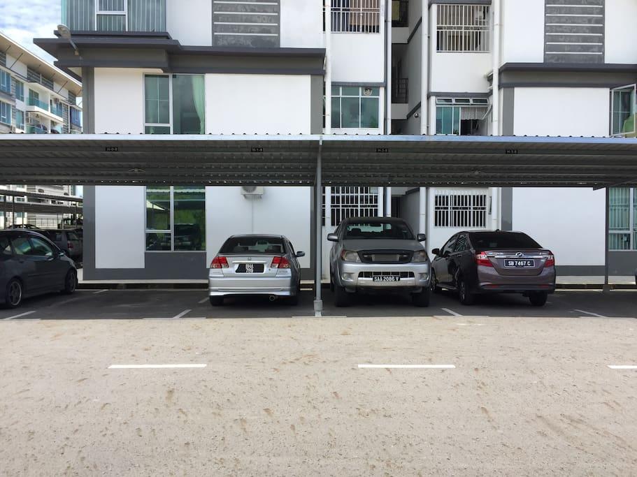 Dedicated cover car park