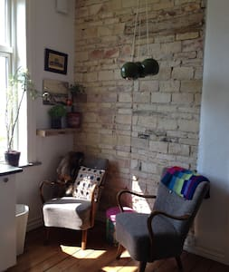 Raw decor with a warm and homely atmosphere - Aalborg - 公寓